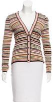 Missoni Patterned Knit V-Neck Cardigan