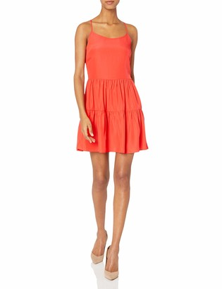 Amanda Uprichard A Women's Del Mar Bandana Print Dress Shrimp Small