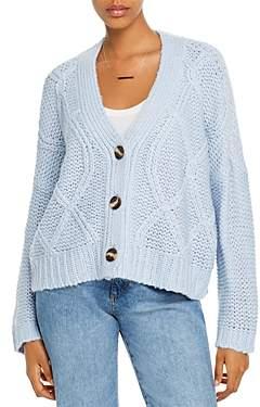 Aqua Cable-Knit V-Neck Cardigan - 100% Exclusive