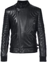 Philipp Plein crystal skull biker jacket