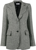 Bella Freud isaacs houndstooth wool-blend blazer