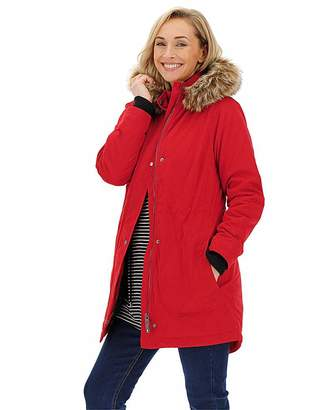 Capsule Red Luxe Faux Fur Lined Parka