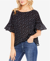 Vince Camuto TWO By Printed Bell-Sleeve Blouse