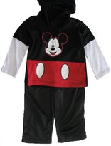 Disney Little Boys Red Mickey Mouse Print Hooded 2 Pc Pants Set