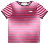 Gucci Children's striped cotton T-shirt with arrow