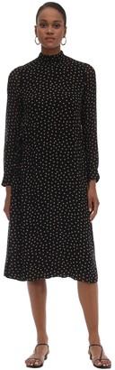 Ganni Printed Georgette Midi Dress