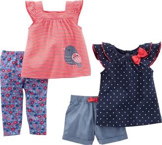 Simple Joys by Carter's Baby Girls' 4-Piece Playwear Set