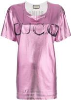 Gucci metallic faded logo print T-shirt