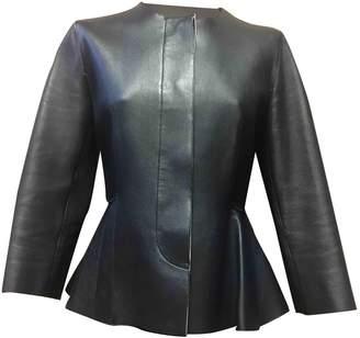 Marni Navy Leather Jackets