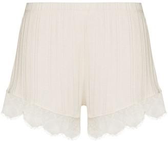 Skin Betsey lace-trim shorts