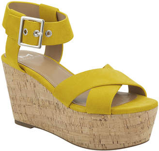 Marc Fisher Cacie Suede Ankle-Strap Wedge Sandals