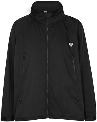 South2 West8 Black Hooded Twill Jacket