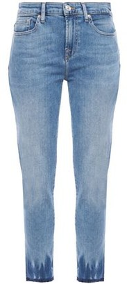 7 For All Mankind Pyper Cropped Faded Mid-rise Skinny Jeans