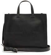 Fendi Stripe-embossed leather tote