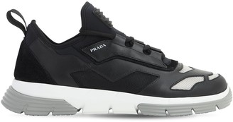 Prada Logo Techno & Leather Sneakers
