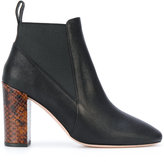 Paul Smith snakeskin effect heel ankle boots