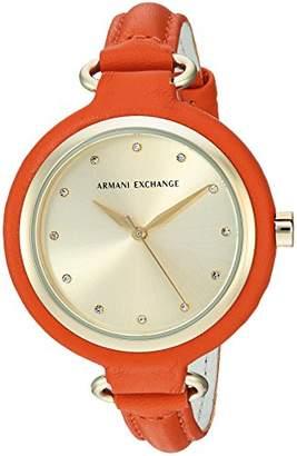 Armani Exchange Women's AX4243 Orange Leather Watch