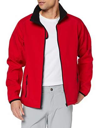 Result Men's Core Printable Soft Shell Jacket, (Red/blk), Small(Size:S)