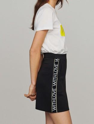 Maje Short skirt with slogan band