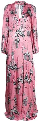 Temperley London Euphoria Chinoiserie-print silk gown