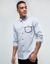 Solid Oxford Shirt With Pocket Taping In Regular Fit
