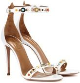 Aquazzura Byzantine 105 Embellished Leather Sandals