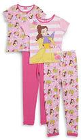 AME Sleepwear Little Girls Four-Piece Princess Pajama Set