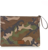 Valentino Camouflage-print canvas document holder