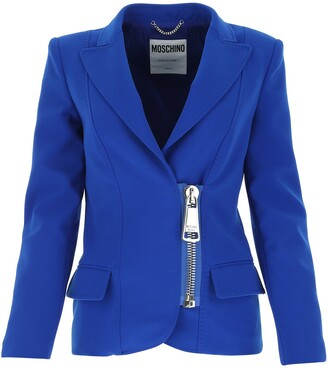 Moschino Single-Breasted Zipped Blazer