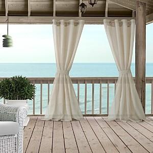 Elrene Home Fashions Bali Sheer Indoor/Outdoor Tieback Curtain Panel, 52 x 108