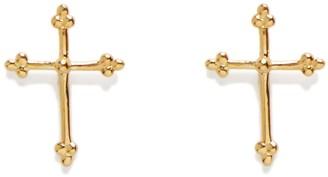 Agnes de Verneuil Cross Stud Earrings - Gold