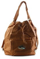 MG Collection Kirsten Drawstring Bucket Tote Synthetic Backpack.