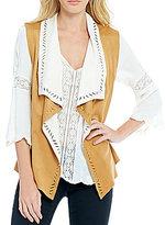 Jessica Simpson Teegan Reversible Faux-Suede Vest