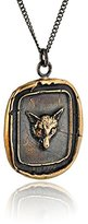 Pyrrha Bronze Fox Talisman Necklace