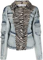 Almaz zebra print denim jacket