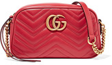 Gucci Gg Marmont Camera Small Quilted Leather Shoulder Bag - Claret