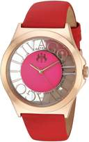 Jivago Women's 'Fun' Swiss Quartz Stainless Steel Casual Watch, Color:Red (Model: JV8436)