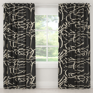 Lulu & Georgia Black Scribble Curtain Panel