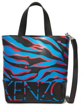 Kenzo Leather-trimmed Printed Faux Leather Shoulder Bag