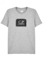 C.p. Company Grey Printed Cotton T-shirt