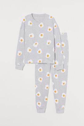 H&M Patterned Jersey Pajamas