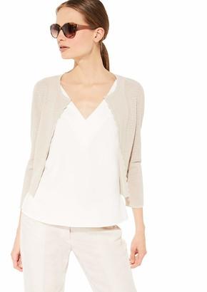 Comma Women's 81.005.64.2558 Jacke 3/4 Arm Cardigan Sweater