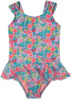 Hula Star Girl's 'Rose Tango' Floral Print One-Piece Swimsuit