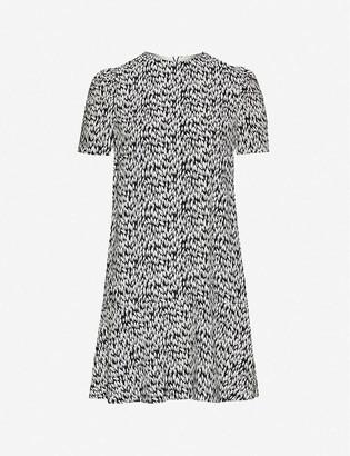 Whistles Petal-print woven midi dress
