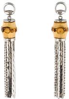 Gucci Sterling Bamboo Tassel Earrings