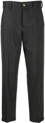 Pt01 Straight-Leg Cropped Trousers
