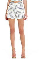Lucy Paris Striped Tweed Slub Shorts