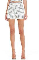 Lucy Paris Striped Tweed Slub Shorts