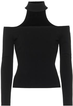 Jonathan Simkhai Off-shoulder ribbed-knit sweater