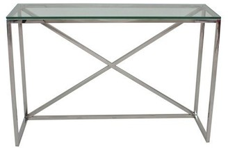 clear Chelsea Console Table Glass